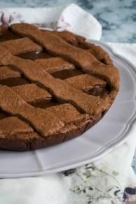 Crostata al cioccolato fondente bimby