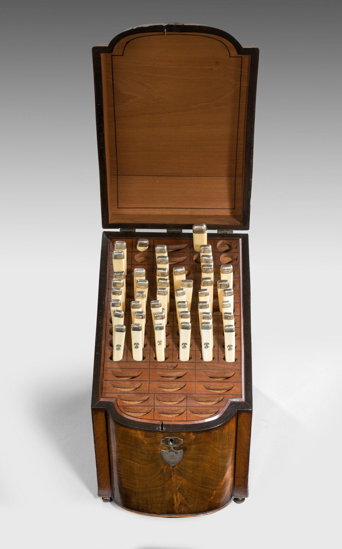 Antique George Iii Cutlery Knife Box