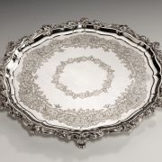 ANTIQUE ENGRAVED SILVER SALVER