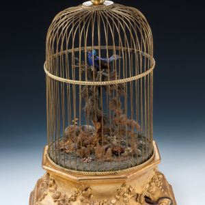 ANTIQUE FRENCH SINGING BIRD CAGE ATTRIBUTED TO JEAN PHALIBOIS