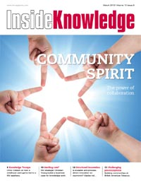 Inside Knowledge Magazine cover March 2010