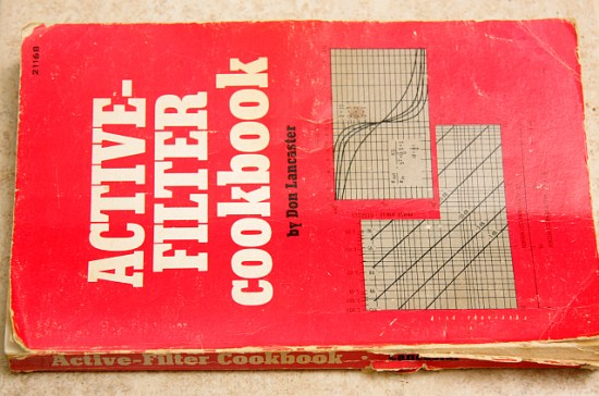 a well-used copy of Don Lancaster's Active Filter Cookbook