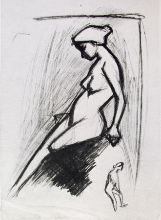 Pablo Picasso - croquis - nude 4