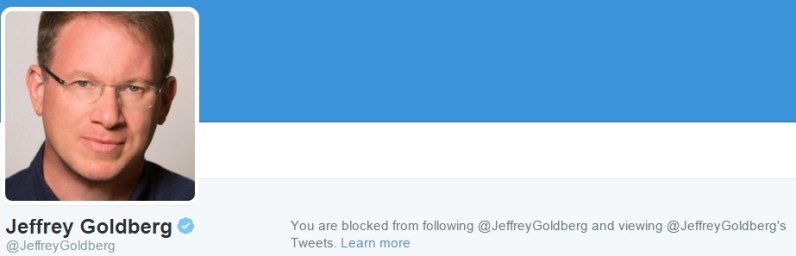 jeffrey goldberg twitter block