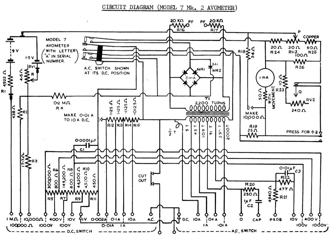 avo 8 mk 5 circuit diagram