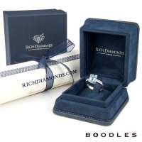 Boodles Platinum Aquamarine and Diamond Ring - Rich ...