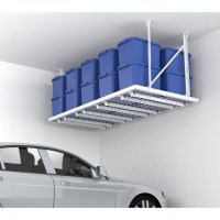 "HyLoft 96"" x 48"" Super Pro Ceiling Storage Unit, White ..."