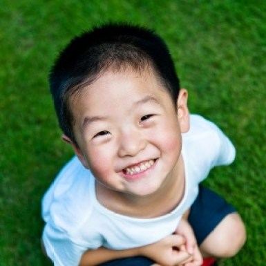 Portrait of cute little asian boy.