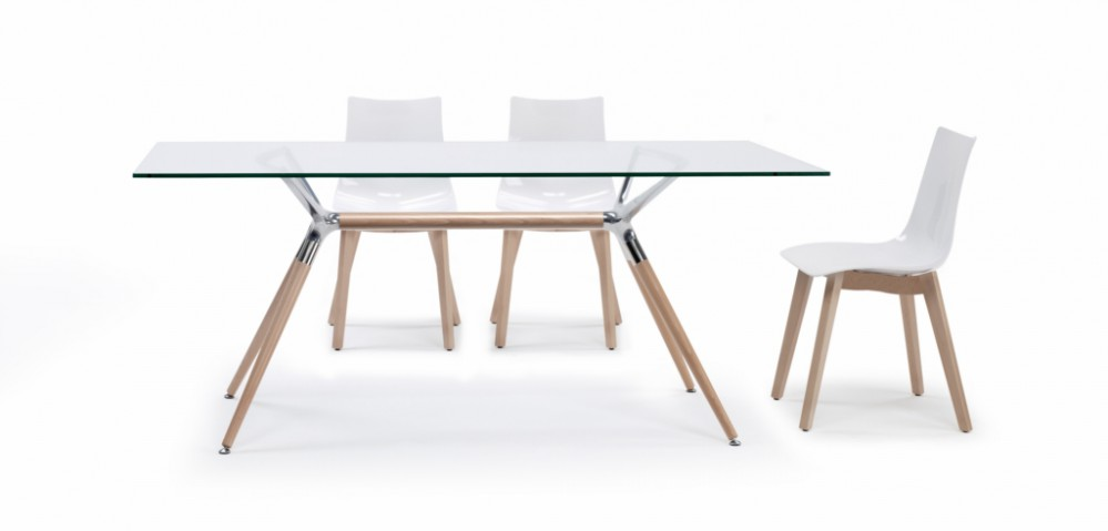 Design Tisch Holz Buche Metall drei verschiedene Größen modern - designer tische holz metall