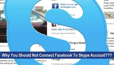 You Should Not Connect Facebook To Skype Account