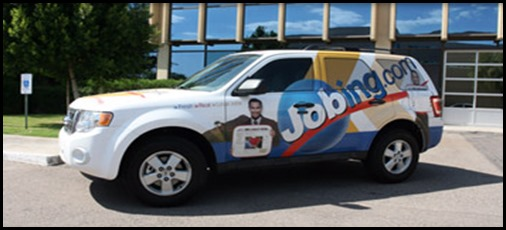 Car with Advertisement