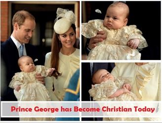 Christening ceremony of prince george