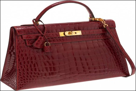 Hermes Red Crocodile Birkin Purse Bag