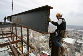 High rise iron working scariest job