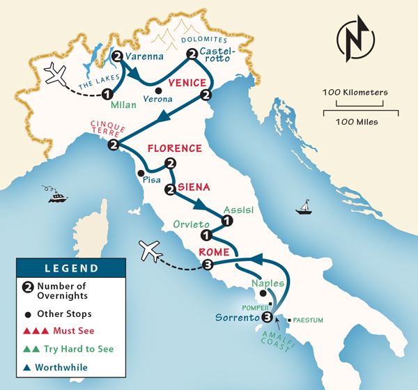 Italy Itinerary Where to Go in Italy by Rick Steves