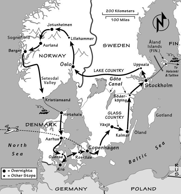 Scandinavia Itinerary Where to Go in Scandinavia by Rick Steves