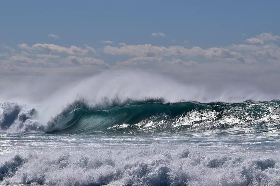 Big swell em Maroubra Beach, 2017, Sydney