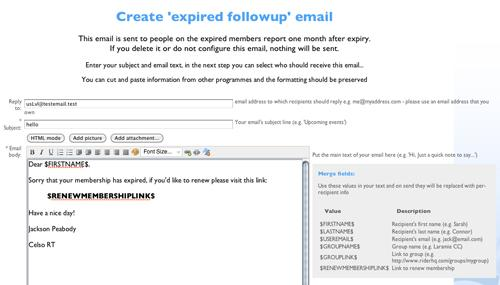 Expired members follow-up email - how to write a follow up email