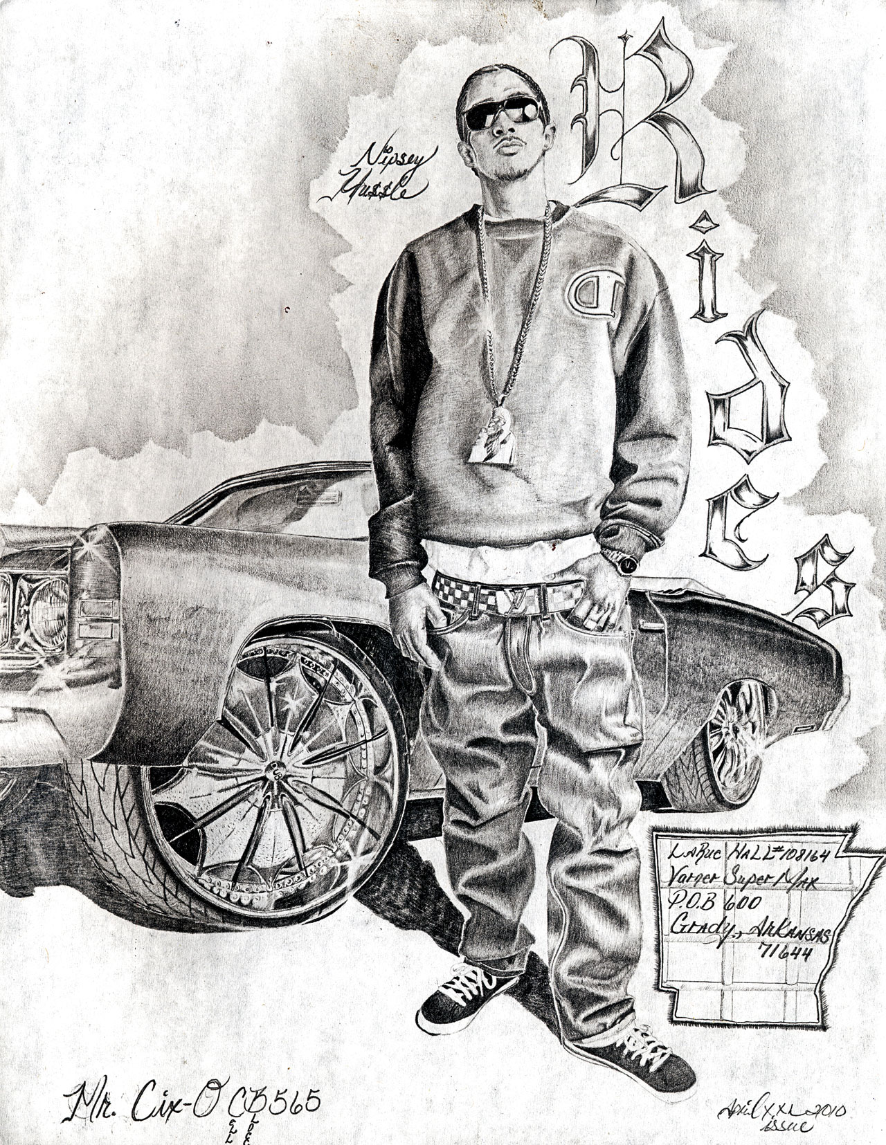 rides cars mr cix grady arkansas drawing art