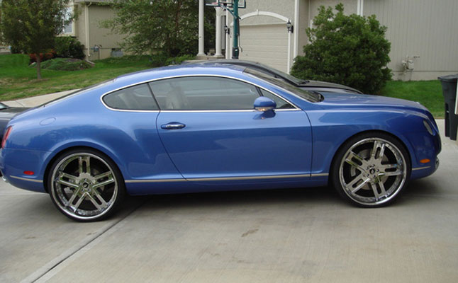 rides cars bentley continental gt blue