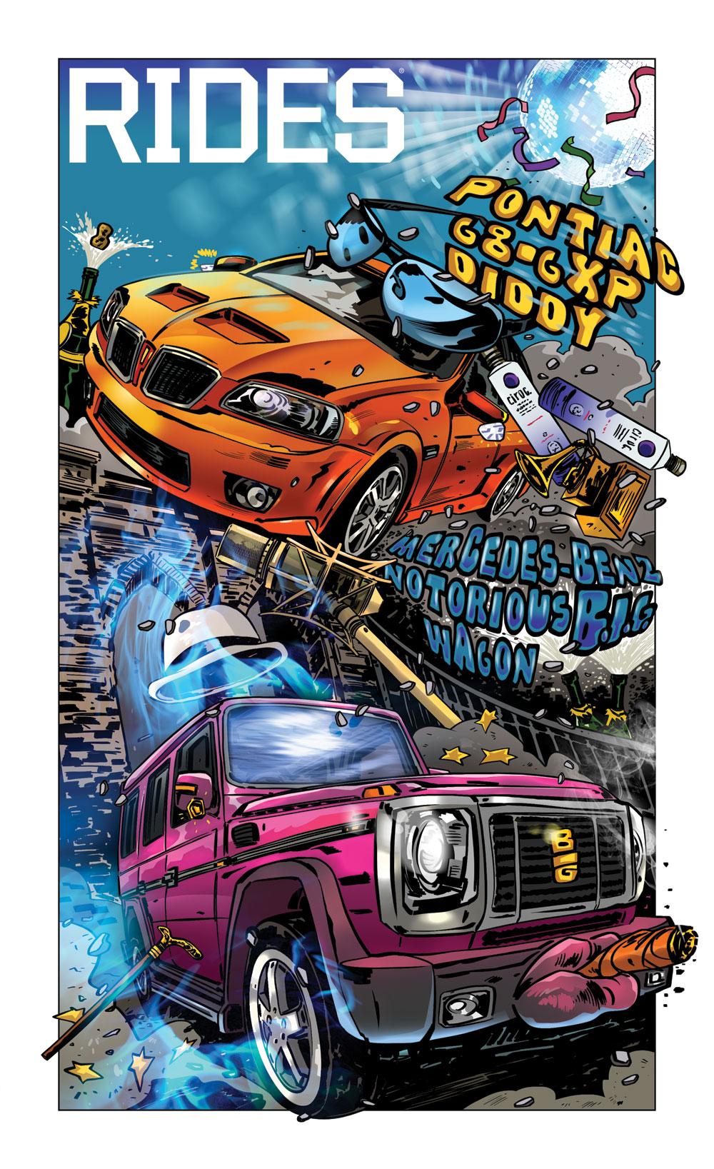 rides cars mash box car toons p.diddy pontiac g8 gxp notorious b.i.g. biggie g-wagon mercedes-benz Tin Salamunic