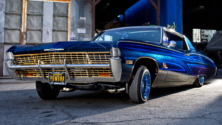 rides cars 1968 chevy chevrolet impala lowrider david topo tiscareno california blue