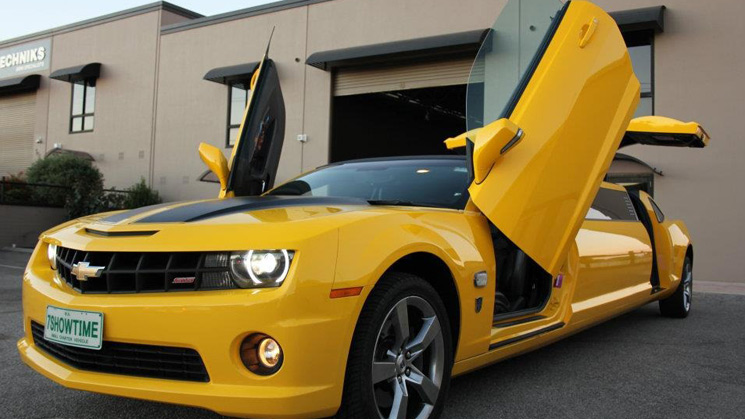 rides chevrolet chevy camaro bumblebee limo limousine transformers v8 ss australia