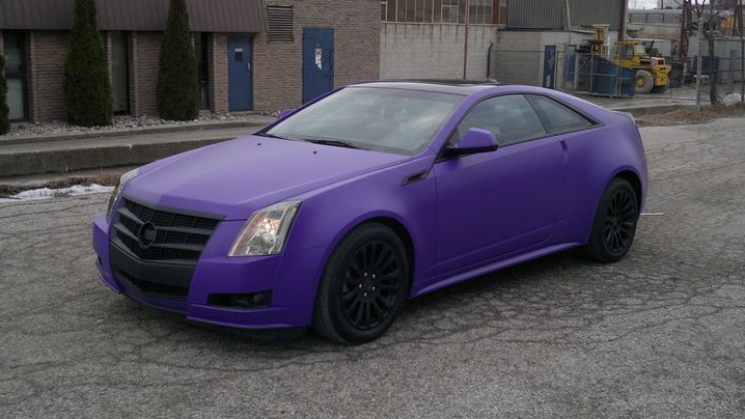 rides cadillac cts matte purple black stock restyleit