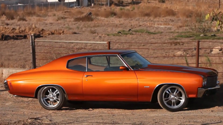 rides 1970 chevy chevrolet chevelle orange big muscle customized redefined ls2 v8
