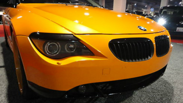 BMW orange 645ci 6-series rides