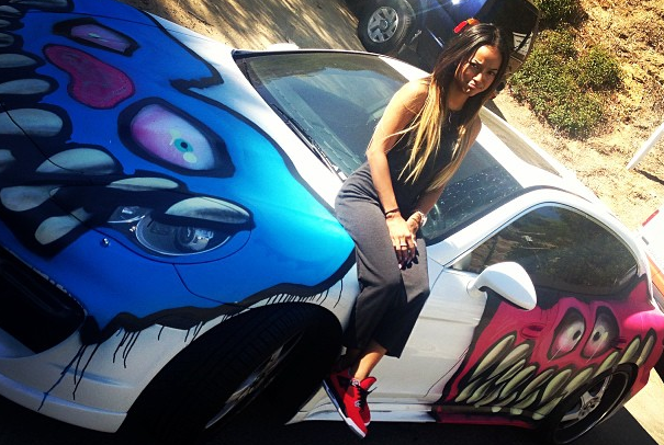 #karrueche-tran+porsche+panamera+graffiti+featured
