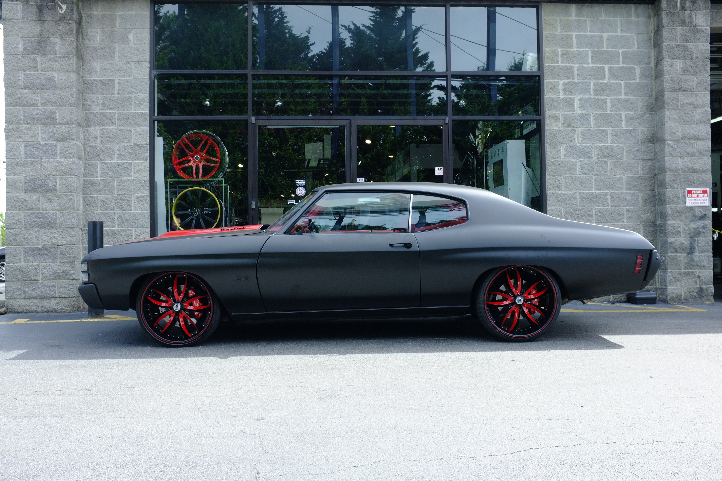 1960s Muscle Cars Wallpapers Matte Black Chevelle On Asanti Wheels By Butler Tire