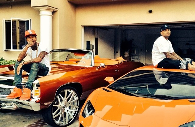 chris+brown+Cars+instagram+tyga+donk+lambo