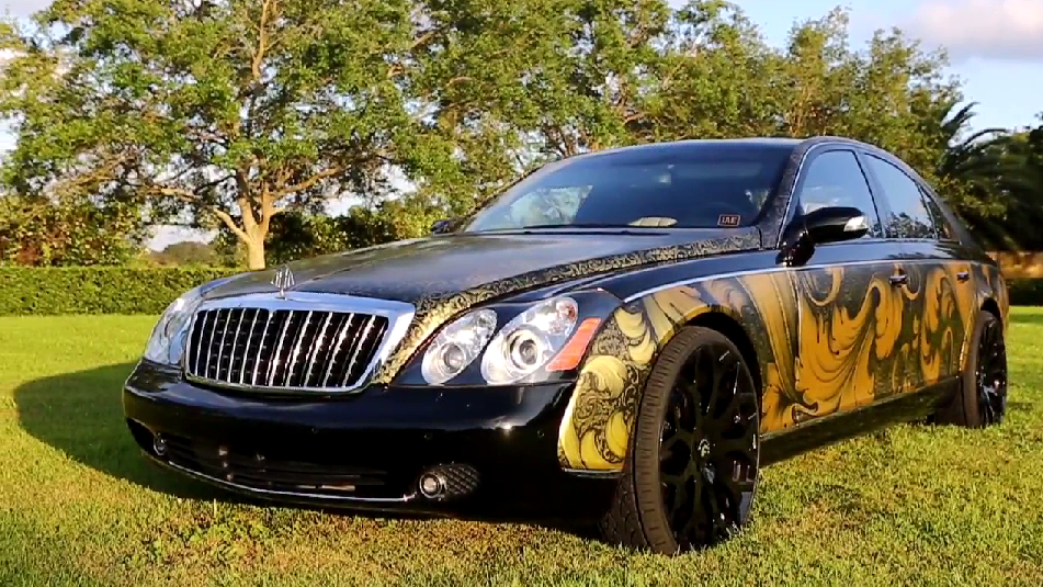 Dope Car Wallpapers Gold Maybach From Iae Amp Metrowrapz