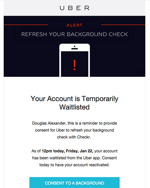 Uber background check refresh When Uber runs a yearly background - background check consent forms