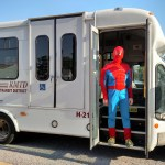 Spiderman looks for alternative transportation
