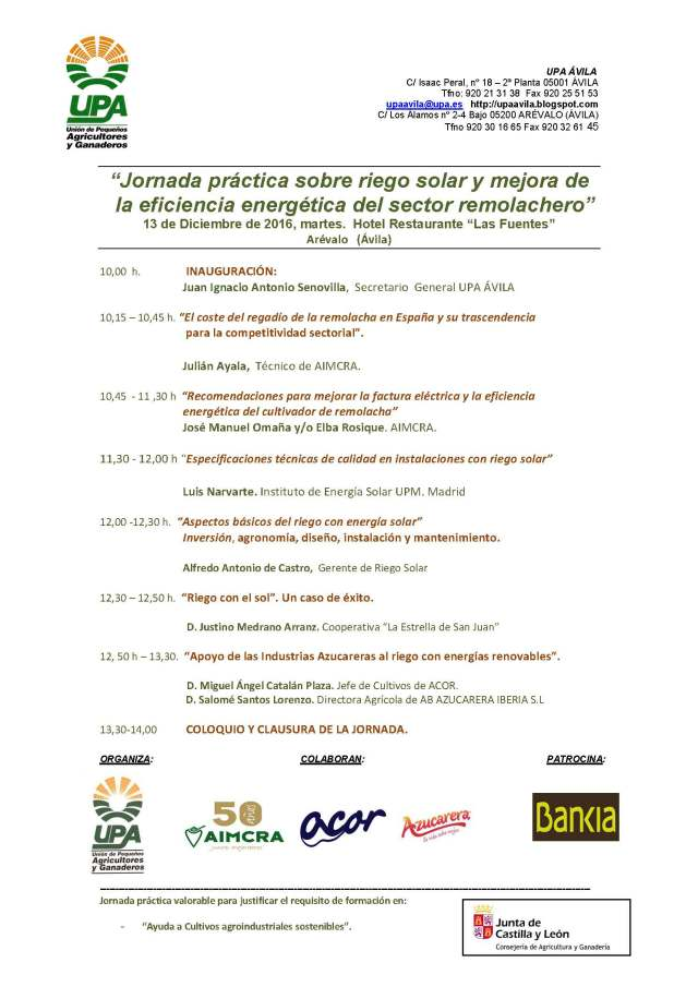 PROGRAMA-JORNADA-riego-solar-remolacha-UPA-Arevalo-2