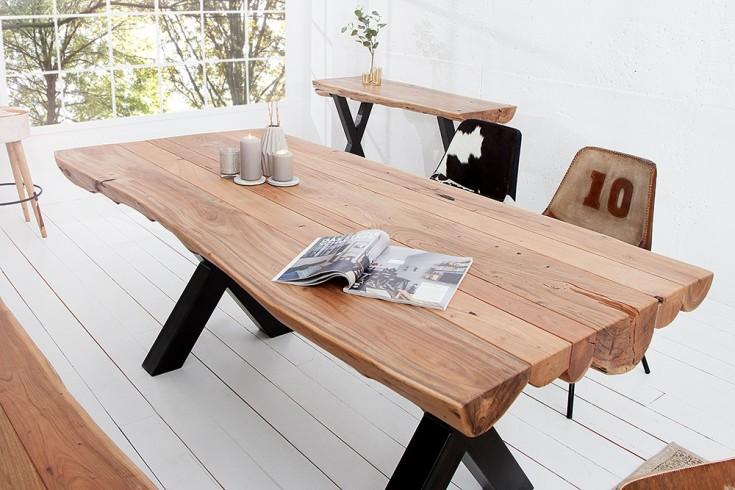 Massiver Baumstamm Esstisch AMAZONAS 200 cm Akazie Massivholz Raw - designer stuehle metall baumstamm
