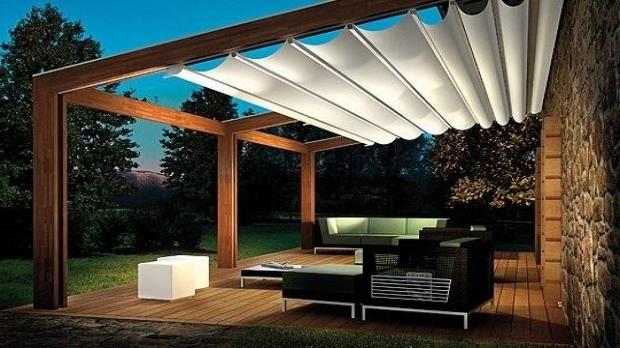 Pergola With Retractable Shade Canopy Pergola Gazebo Ideas