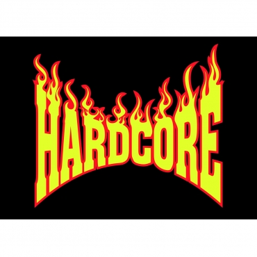 Hardcore Flame Logo poster (HCFLAMEPOSTER) Poster - Rigeshop - flame logo
