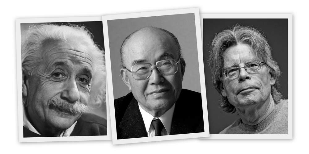 Albert Einstein, Soichiro Honda, Stephen King---Celebrities with humble early careers who didn't just wait around for dream jobs to turn up