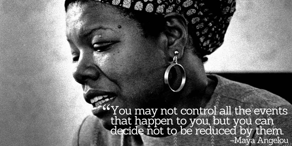 Maya Angelou shared the great wisdom she acquired from many hardships