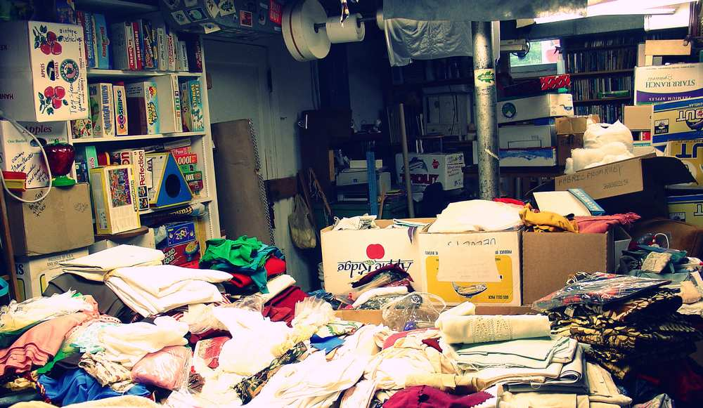Hoarding usually accompanies varying levels of anxiety. Hoarding both eases anxiety and produces it.