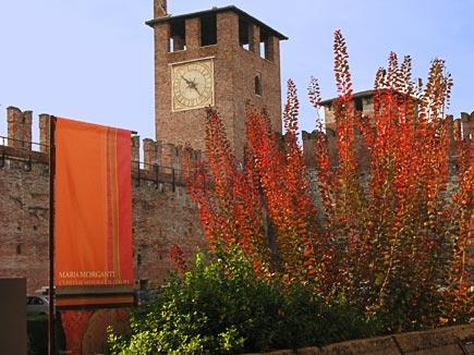 castel vecchio museumcourtyard, verona, italy