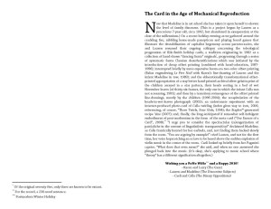 The Card in the Age of Mechanical Reproduction; 2009; text by KR - inside