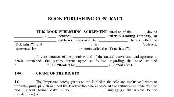 The Foreign Writer\u0027s Guide to Publishing House Contract Requirements - writing contract agreements