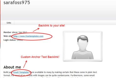 profile backlink