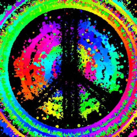 Peace Black Wallpaper Peace Sign Ringo Starr Art