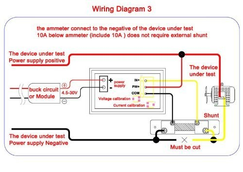 digital amp meter wiring diagram wiring diagram for amp gauge the