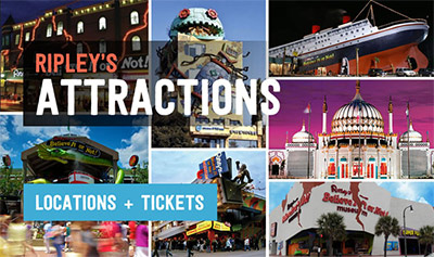 Tickets & Information for Ripley's Believe It or Not Attractions and Aquariums